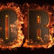 Burning word - Foto Stock