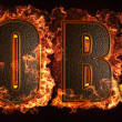 Burning word - Stock Photo