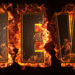 Burning word - Stockfoto