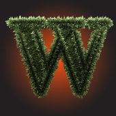 Vector grass figure — Stock Vector