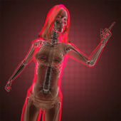 Cute woman radiography — Stock Photo