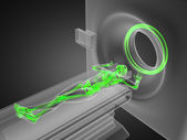 MRI examination made in 3D — Stock Photo