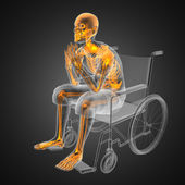 Man in wheelchair — Stock Photo