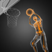 Basketball game player — Stockfoto