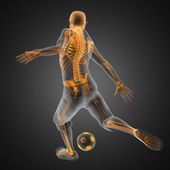 Soccer game player — Stock Photo