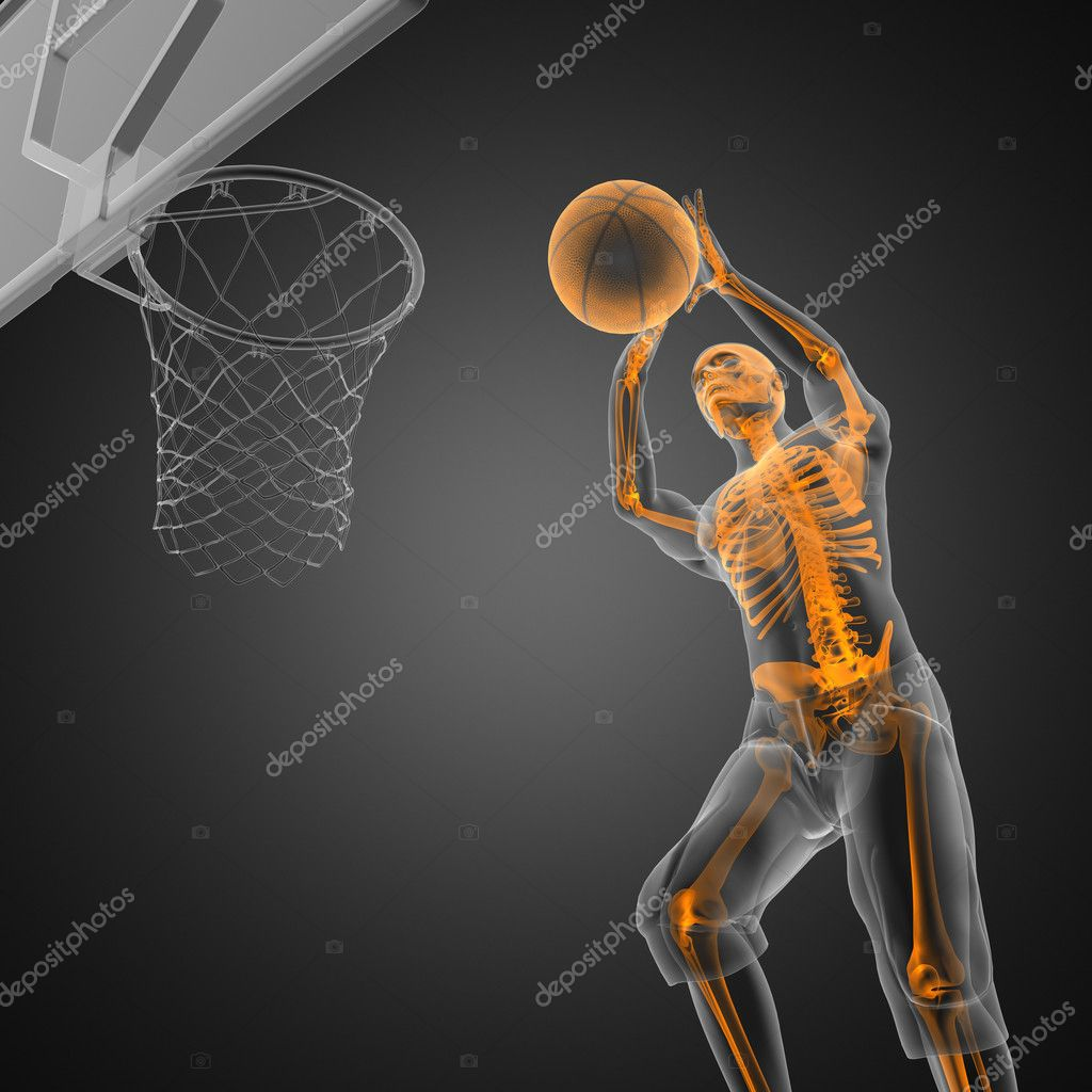 Basketball game player made in 3D — Stock Photo #9029647