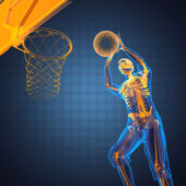Basketball game player — Stock Photo