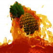 Stock Photo: Pineapple in juice