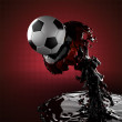 Soccer ball in liquid — Stock Photo #9287873