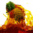Pineapple in juice — Stock Photo