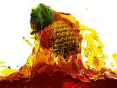 Pineapple in juice — Stock Photo
