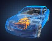Transparent car concept — Stock Photo