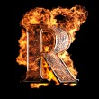 Burning Letter - Stockfoto