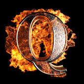Brinnande brev — Stockfoto