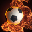 Soccer ball in liquid — Stock Photo #9700455