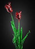 Flower of glass — Stock Photo
