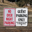 Guest Parking only and no overnight parking - Stock Photo