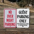 Stock Photo: Guest Parking only and no overnight parking