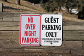 Guest Parking only and no overnight parking — Stock Photo