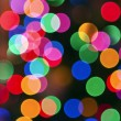 Glowing Christmas lights background — Stock Photo