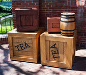 Crates of tea — Stock Photo