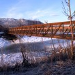 Stock Photo: Walking Bridge in Winter