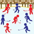 Royalty-Free Stock Vector Image: Hockey Icons