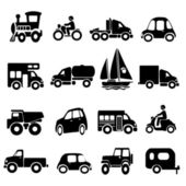 Transport iconen — Stockvector