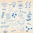 Hand drawn Science Icons — Stockvectorbeeld