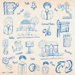 Hand drawn real estate icons — Stock Vector #8395836