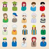 Hand drawn Occupation Icons — Stock Vector