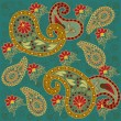 Pretty Lotus Paisley Design — Stockvectorbeeld