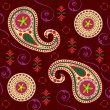 Stock Vector: Rich Paisley Design in Maroon