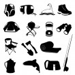 Camping Icons Set - Stock Vector