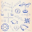 Hand Drawn Science Icon Set - Stock Vector