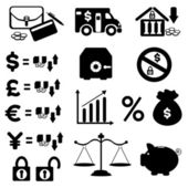 Finances Icon Set — Stock Vector