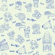 Hand Drawn Seamless Movies Icons - Imagen vectorial