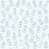 Hand Drawn Seamless Icon Set — Stock Vector