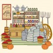 Vintage General Store - Stock Vector