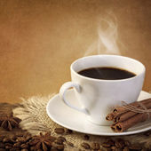 Hot coffee — Stock Photo