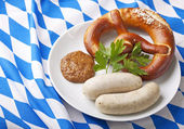 Bavarian white sausages — Stock Photo