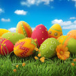 Foto Stock: Colorful easter eggs