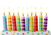 Ten birthday candles — Stock Photo