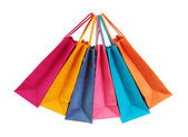 Colorful shopping bags — Stok fotoğraf