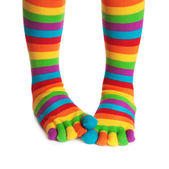Colorful striped socks — Stock Photo