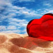 Stock Photo: Red glass heart