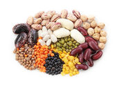 Group of beans and lentils — Foto de Stock
