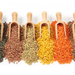 Stock Photo: Group of lentils