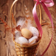 Easter eggs in basket — Stock Photo #8869563