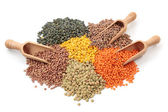 Group of lentils — Stock Photo